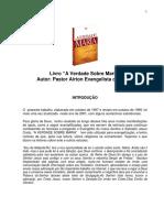 A Verdade Sobre Maria - Airton Evangelista Da Costa