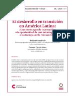 4 DESARROLLO EN TRANSICION EN AMERICA LATINA
