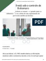 A covid-19 está sob o controle de Bolsonaro _ Eliane Brum_ EL PAÍS Brasil