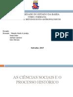 As Ciências Sociaise o Processo Histórico