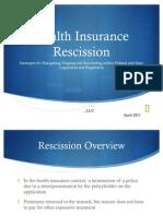 InsuranceRescissionPowerpoint