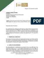 Ponencia Primer Debate PL 008 de 2021 Senado