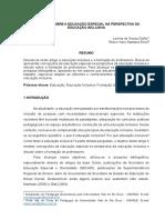 Pedagogia 2017 2 Um Olhar Sobre a Educação Especial Na Perspectiva Da Educação Inclusiva Lorena