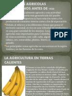 PRODUCTOS AGRICOLAS COLOMBIANOS ANTES DE 1930