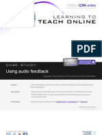 Using audio feedback in your teaching- Case study