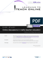 Online discussions in maths teacher education - Case study