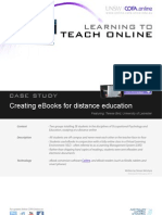 Creating eBooks for distance education - Case study