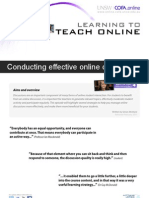 Conducting effective online discussions
