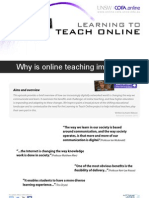Why is online teaching important?