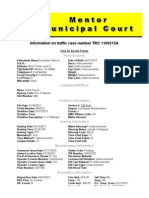 Mentor Municipal Court TRC 1100215A