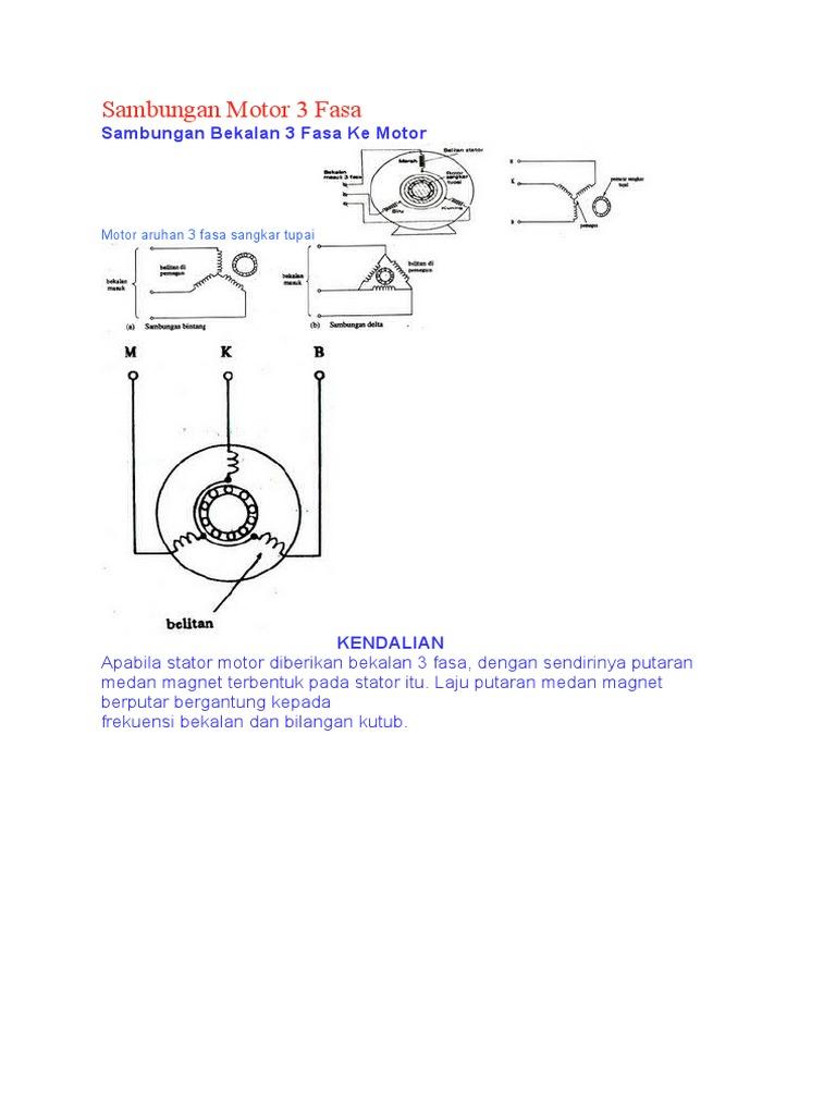 Sambungan Motor 3 Fasa