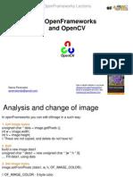 Open Frameworks and OpenCV