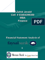 Analysis of Meezan & Faysal Bank
