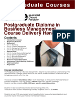 new Course Delivery PDBM