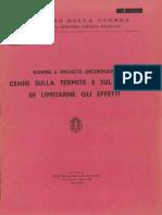 Bombe e Proietti Incendiari - Cenni Termite e Sul Modo Di Limitarne Gli Effetti (3937) 1940