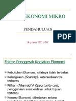 Teori Ekonomi Mikro - Pendahuluan