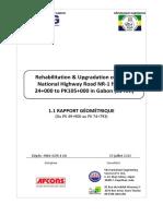 Geometric design report PK49 9 - PK74 9 french