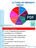 Various Types of Thinking Skills