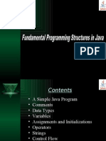 Fundamental Programming Structures in Java