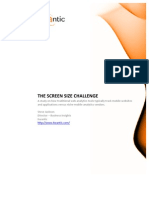 The Screen Size Challenge Report