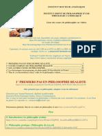 5 PHILO PREMIERS PAS