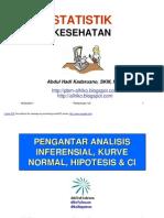 STATISTIK  KESEHATAN- slide VII - Pengantr Anals Inferensial-Kurve Normal-Hipots-CI  dll