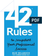 42 RULES TO JUMPSTART YOUR PROFESSIONAL SUCCESS - MANTESHWER