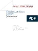 training report on embedded system