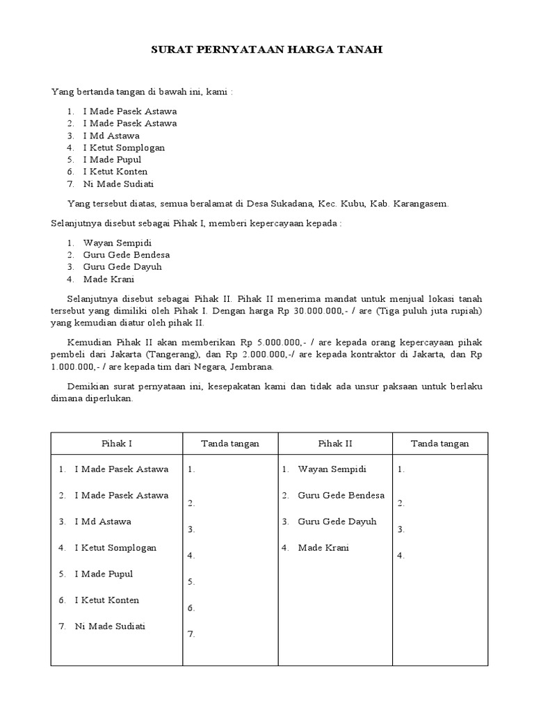96 INFO TUTORIAL SURAT PENAWARAN HARGA TANAH PDF DOC ZIP ...