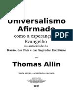 Universalismo Afirmado Thomas Allin  1895