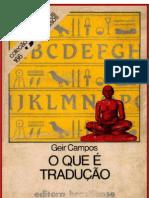 O Que é Tradução - CAMPOS, Geir
