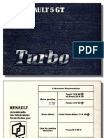 Manual de Uso Renault GT Turbo