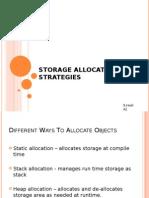 Storage allocation strategies