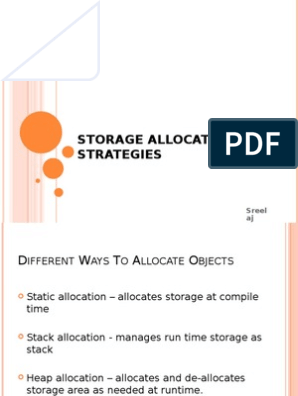Storage Allocation Strategies Subroutine Software Engineering