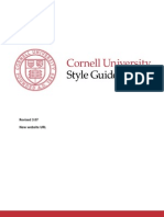 Cornell University Style_guide