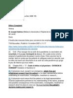 Complaint vs Dr Joseph Dahine - Cité de La Santé de Laval