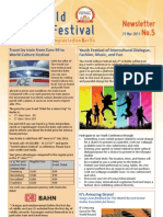 World Culture Festival Berlin, Germany, Weekly Newsletter 5