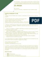 Tutorías grupales 1 y 2. Funciones y elección de los alumnos-ayuda