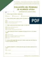 Cuestionarios para evaluación del programa de alumnos-ayuda…
