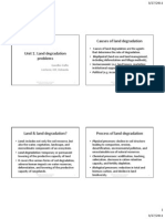 Unit 1 Introduction to Land Degradation Version 1 2011