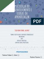 PDTA Aula Psicologia Do Desenvolvimento e Teorias Da Aprendizagem