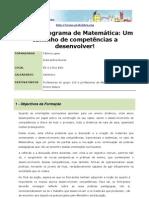 O Novo programa de Matemática Um caminho de competências a desenvolver
