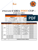 Paulo Faria Foot Cup Quadro Competitivo Final - Benjamins