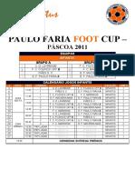 Paulo Faria Foot Cup Quadro Competitivo Final - Infantis