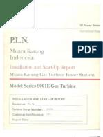 installation & start-up report  GT-1