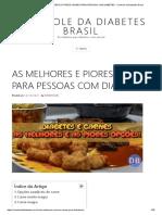 As Melhores e Piores Carnes Para Pessoas Com Diabetes - Controle Da Diabetes Brasil