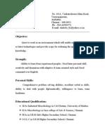 Resume-Shalini