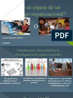 El psicologo organizacional y lo que se espera de el