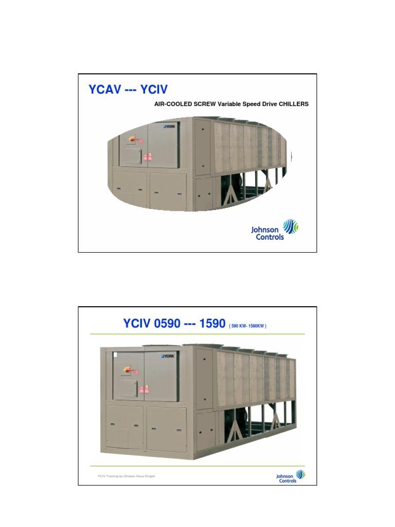 3 operator training yciv heat transfer automation rh es scribd com yciv chiller service manual york yciv service manual