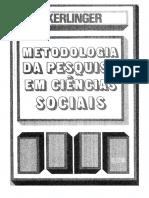 Kerlinger, F.N. Metodologia Da Pesquisa Em Ciencias Sociais